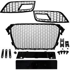 Kühlergrill Wabengrill + Grill Stoßstange Schwarz passend für Audi A4 B9 15-17