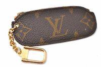 Authentic Louis Vuitton Monogram Pochette Cles Coin Case Old Model LV B7894