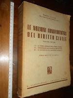 LIBRO -Allara Mario Le nozioni fondamentali del diritto civile. Vol. I (unico