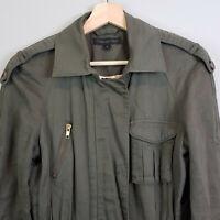 FOREVER NEW | Womens Khaki Zip Military Jacket [ Size AU 8 or US 4 ]