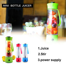 Portable Electric Juice Fruit Maker Mug Fruit Juicer Juicing Sport Bottle Cup US