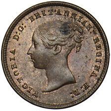 More details for 1844 1/2 half farthing - victoria british copper coin - superb