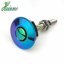 Neo Chrome  JDM Style Push Button Billet Hood Pins Lock Clip Kit Car Quick Pins