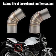Tuyau de Liaison Moyen Echappement Tube Moto en Acier Inoxydable pour Ducati 696