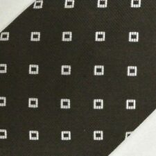 """Brown Silver Foulard Self Tipped Silk Tie 62"""" Extra Long"""