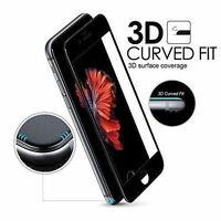 Black 3D Full Cover Tempered Glass Curved Screen Protector For iPhone 6+/6s Plus
