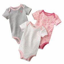 First Moments Baby Girl 3 Pc Print Animal Bodysuit Set - 12 months-FREE SHIPPING
