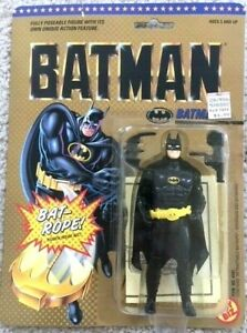 Batman Figure ERROR CARD DC Comics Super Heroes round face Toy Biz 1989 unopened
