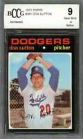 Don Sutton Card 1971 Topps #361 Los Angeles Dodgers BGS BCCG 9