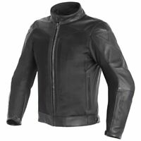 New Dainese Corbin D-Dry Leather Jacket Men's EU 58 Black #153379363158