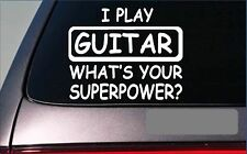 """Guitar Superpower *G414* decal 8"""" sticker club bass electric acoustic pick"""