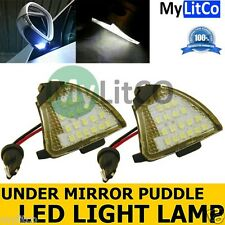 VW Passat (2005-2011) LED Side Under Mirror Puddle Lights Xenon White Lamps
