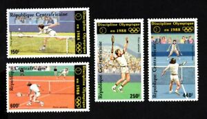 Olympic Central African Republic 1986 set of stamps Mi#1265-68 MNH CV=15€