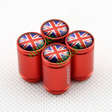 4X Red Styling Auto Parts Wheel Tyre Tire Air Valve Caps England Britain UK Flag