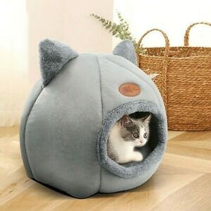 Pet Cat Warm Cushion Kennel Dog Soft Cave Sleeping Bed Cotton Nest House Tent