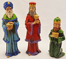"Vintage Nativity Figurines 3 Wise Men RB Japan Large 8.5"""