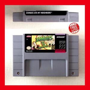 Zombies Ate My Neighbors 16 bit Game Cartridge Console US Version Nintendo SNES