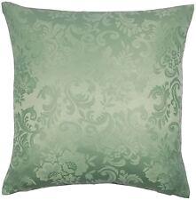 Jacquard floral del damasco Verde 18 Pulgadas 45cm cubierta del amortiguador para combinar Con Cortinas