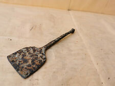 OLD ANTIQUE PRIMITIVE IRON WROUGHT SPATULA FOR DOUGH TRENCHERS