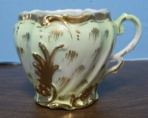 Antique Hand Painted Mustache Cup