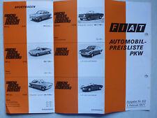 Prospekt Fiat Automobil-Preisliste mit 500F, 770S, 850, Dino, 2.1971, 12 Seiten