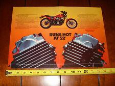 1984 HONDA VT500 ASCOT ORIGINAL 2 PAGE AD