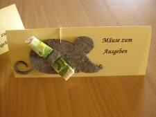 2 x Mausefalle Maus Geldgeschenk Geld Geburtstag Mäuse Jubiläum Mitbringsel Filz