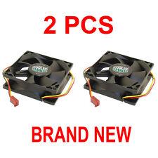 2-PCS NEW COOLER MASTER 80MM x 25MM 3-PIN CASE FAN