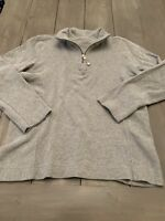 Talbots Pullover Top Sweater Gray Size M Long Sleeve 1/4 Zip