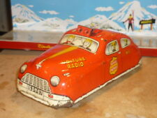 ANCIEN JOUET JOUSTRA AUTO FASTBACK POMPIERS RADIO TOLE MONT BLANC JEP 1953