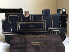 Last One!! NWT Kate Spade New York All Aboard Train Leather Clutch $348
