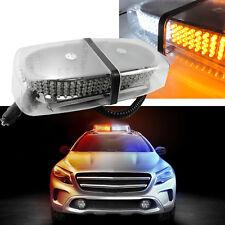 White & Amber 240 LED Roof Top Emergency Hazard Warning Flash Strobe Light Bar