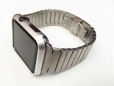 Stainless Steel Link Bracelet Butterfly Lock Watch band Strap For Apple Watch 38
