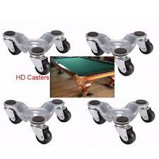 HD 4 Piece Pool Table Air Hockey Arcade  Pedestal lMoving Dolly Wheels Skates