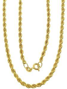 Collana Girocollo Donna Oro Giallo 18 kt Carati 750 Funetta Corda 1,95 Gr Cm 50