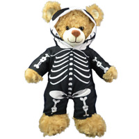 """BLACK SKELETON MORPH  ALL-IN-ONE - BUILD A TEDDY BEAR CLOTHES - 16"""" /40cm"""
