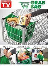 Grab Bag clip-to-cart shopping bag reusable expandable folds flat As Seen On TV
