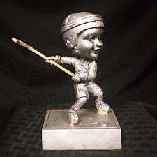 Male Hockey Player Bobblehead Resin Trophy Award - Free Engraving