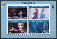 Chad Disney Stamps 2019 MNH Frozen 2 Elsa Olaf Cartoons Animation 4v M/S I