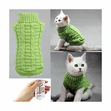 Bolbove Cable Knit Turtleneck Sweater for Small Dogs & Cats Kni... Free Shipping