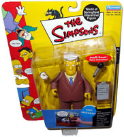 Simpsons Kent Brockman Figure WOS MOC Series 5 RARE Toy Intelli-Tronic Playmates