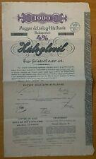 Magyar Jelzalog-Hitelbank - Hungary - Budapest - 1000 - 4% - 1895 - Serie I