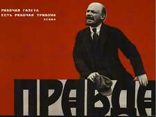 ADVERT NEWSPAPER PRAVDA SOVIET USSR COMMUNISM LENIN WORKER POSTERPRINT ABB6156B