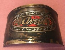 Avey The Cincinnati Pulley Co. Vintage Drill Press Head Label NamePlate