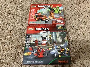 LEGO 10739 & 10733 Lot JUNIORS SHARK ATTACK & Snake Showdown New Sealed
