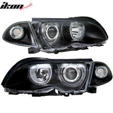 Fits 99-01 BMW E46 Sedan 4Dr Halo Projector Headlights Black