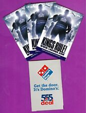 Los Angeles Kings lot of 4 pocket schedules 2005/06 sponsored by Domino's NHL
