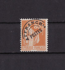timbre France préoblitéré  Paix   80c orange     n° 75   **
