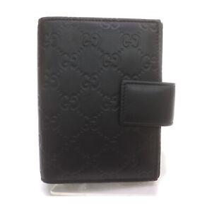 Gucci Diary Cover pretty Black Leather 1520295