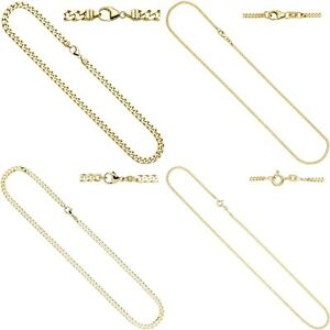 Real Solid Classy Panzerkette Gold Chain Necklace 333, 585, 750 Yellow Gold